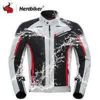 HEROBIKER automne hiver Moto veste hommes imperméable coupe-vent Moto veste équitation course Moto vêtements équipement de protection