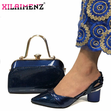 Bag Matching-Set Wedding-Clutch Women Shoes Blue-Color African Royal And Spring In-Dark