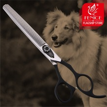 Fenice High Quality 7/7.5 inch dog grooming thinning scissors in shears makas tijeras 30%