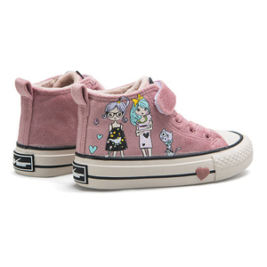 Image 3 - Kids Cotton Shoes 2020 New Winter Girls Plush Princess Shoes Cartoon Childrens Sneakers Cute Students Suede Boots Girls Tennis