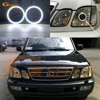 цена на For Lexus LX470 LX 470 J100 1998-2007 Excellent smd led Angel Eyes kit Ultra bright illumination DRL