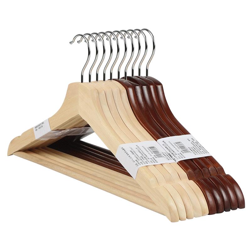Creative Wooden Antislip Clothes Pants Coat Hanger Home Easy Hook Closet Organizer Storage Rack Holder Home Living Storage