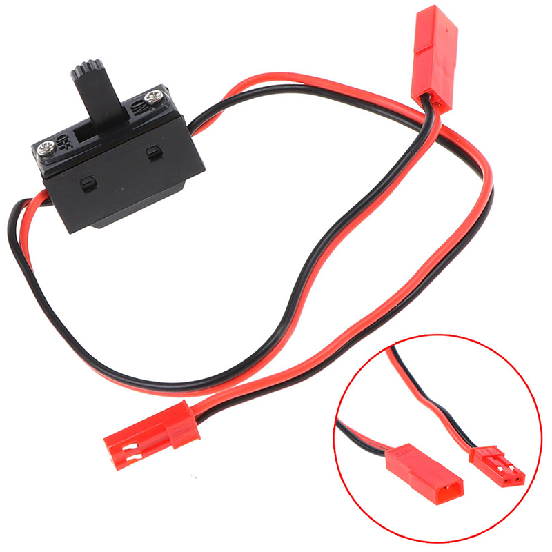 30cm RC Car LED Light Control Power Switch JST Connector Wires for Axial SCX10 90046 HSP Tamiya Traxxas TRX4 RC Crawler