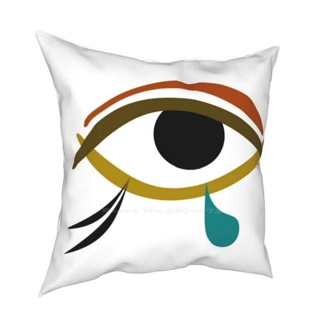 Tear Pillow Cover Hug Pillowcase Tear Tears Eye Egypt Egyptian Abstract Horus Knowledge Charm Wisdom 2