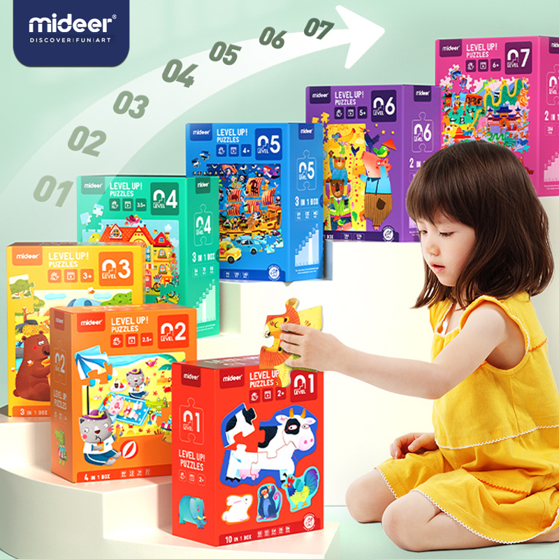Mideer Kid Jigsaw Montessori Puzzle Game Toy Educational Advanced Large Piece Puzzles Baby Toddler Early Education Toys