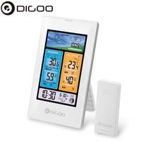 Güvenlik ve Koruma'ten Bina Otomasyonu'de DIGOO DG EX003 Dikey Renkli Ekran Hava Istasyonu Sıcaklık Nem Kapalı açık hava sensörü Termometre Higrometre Beyaz