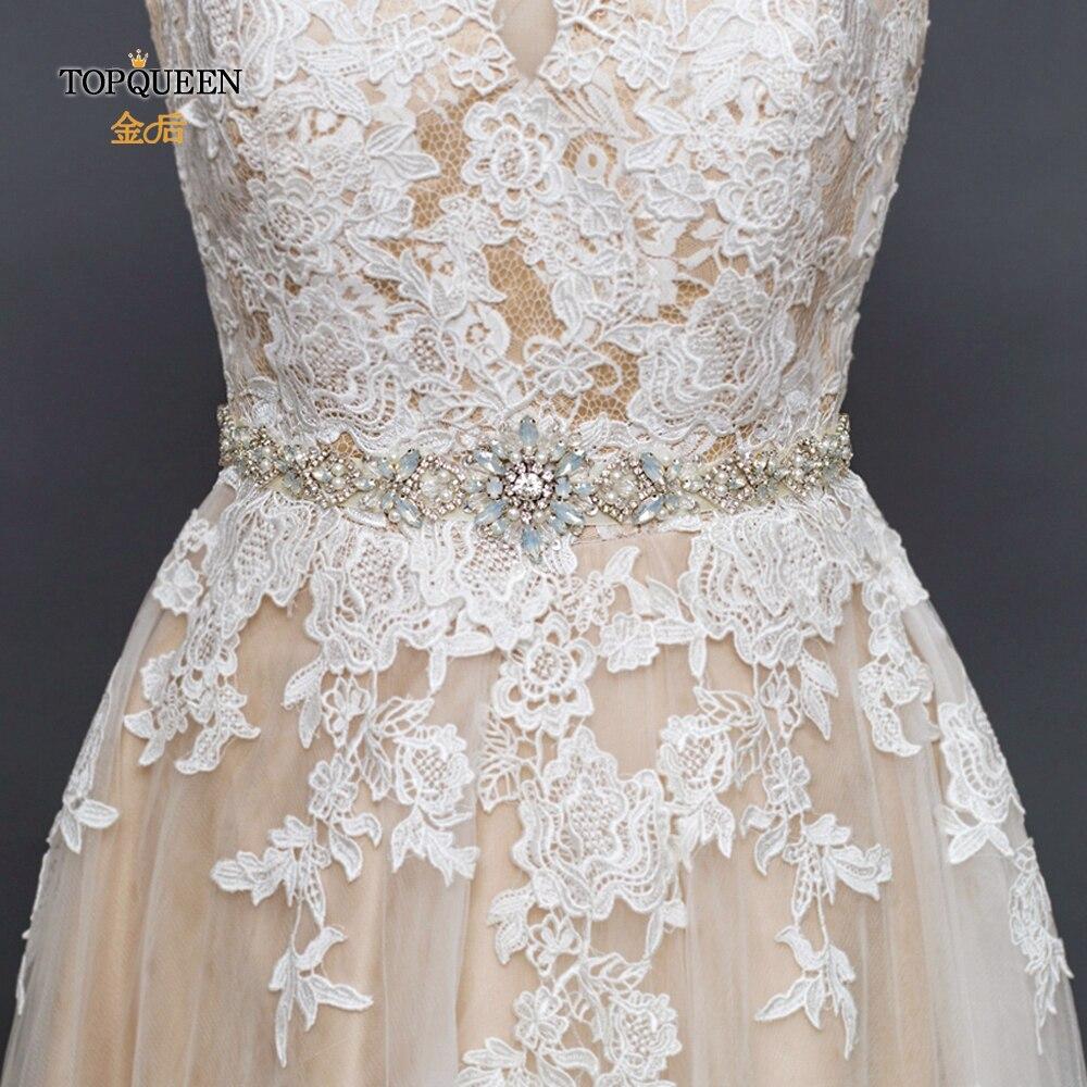 TOPQUEEN S408 Womens Crystal Belt For Wedding Dress Belt From Rhinestones Shiny Rhinestone Ladies Belt Desighner Belt