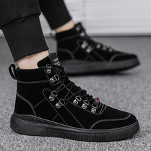 2019 New Mens Shoes Student Casual Breathable Youth Trend Wear-resistant Rubber Sole Leather