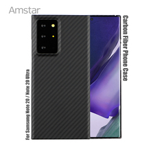 Amstarคาร์บอนไฟเบอร์สำหรับSamsungหมายเหตุ20 Ultra Galaxy S20 Ultra S20 S10 Plusคาร์บอนไฟเบอร์ฝาครอบกรณี