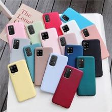 Силиконовый чехол карамельных цветов для телефона samsung galaxy A12 A42 A52 A72 A32 5G M02S A02S M31s, матовый мягкий чехол из ТПУ