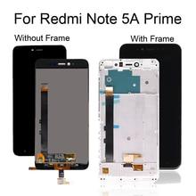 Dla Xiaomi dla Redmi Note 5A Prime wyświetlacz LCD z ekranem dotykowym Digitizer montaż dla Xiaomi uwaga 5A Prime LCD z ramką