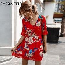 Everafter элегантное женское платье с v образным вырезом и цветочным