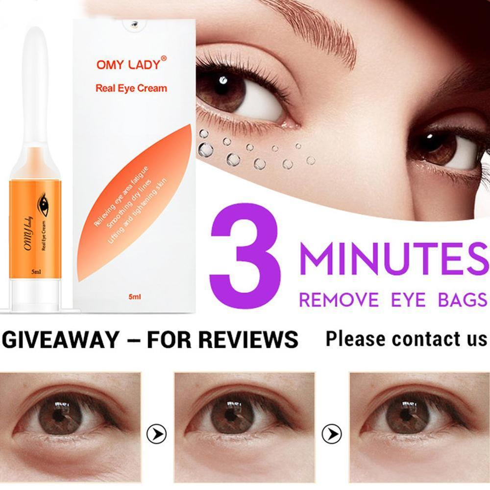 OMYLADY EyeCream Instant Remove Eyebags Firming Eye Anti Puffiness Dark Circles Under Eye Anti Wrinkle Anti Age Eye Care