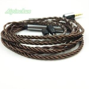 Image 3 - Aipinchun MMCX Headphones Cable Mic Volume Controller Replacement for Shure SE215 SE315 SE425 SE535 SE846 3.5mm L Bending Jack