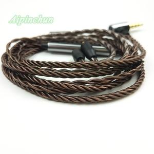Image 3 - Aipinchun mmcx 헤드폰 케이블 마이크 볼륨 컨트롤러 교체 shure se215 se315 se425 se535 se846 3.5mm l 벤딩 잭
