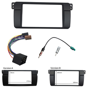 Image 2 - One or Double Din Radio fascias for BMW 3 Series E46 1998 2005 DVD Stereo Panel Dash Mount Refitting Trim Kit Frame CD Bezel