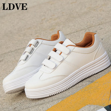 2019 Autumn Hot Woman Shoes White Sneakers Female Casual Comfort Walking Lace Up Fashion Footwear