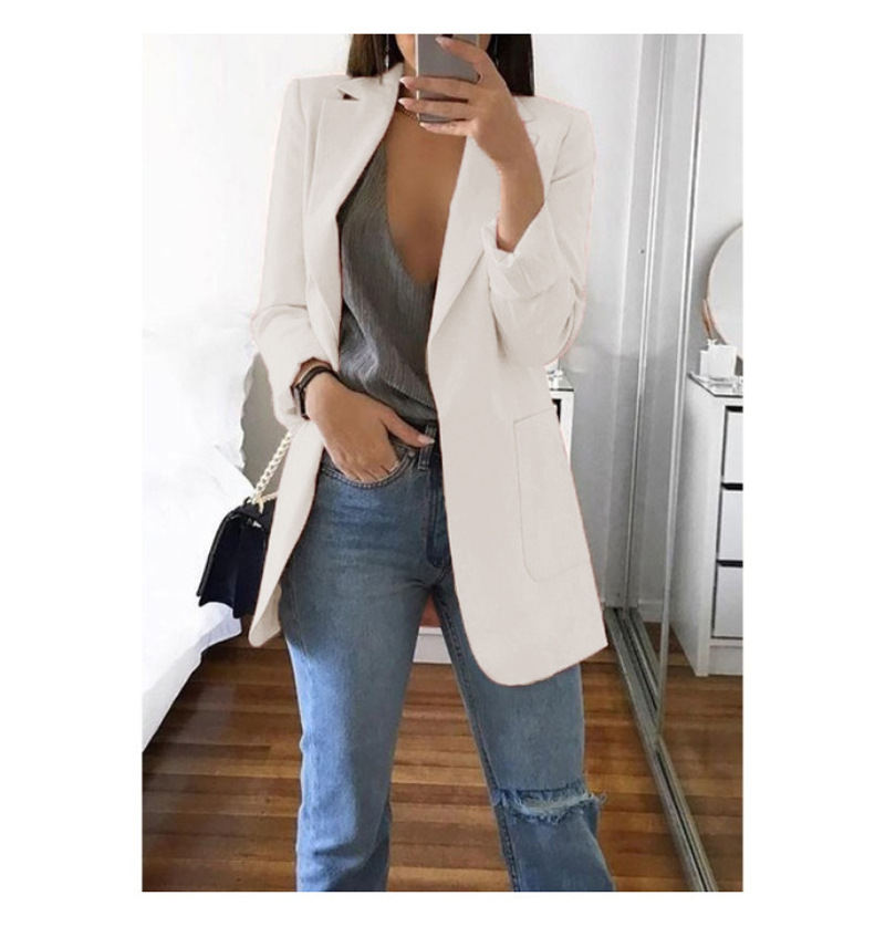 Blazer 5xl Long Women Ladies Femme Mujer Dames Casual Office White Black Blue Red Yellow Pink Orange Plus Size Oversized Blazer