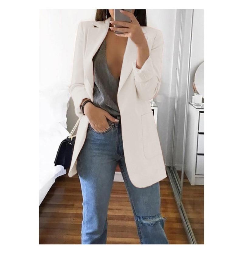 Blazer 5xl Long Women Ladies Femme Mujer Dames Casual Office White Black Blue Red Yellow Pink Orange Plus Size Oversized Blazer