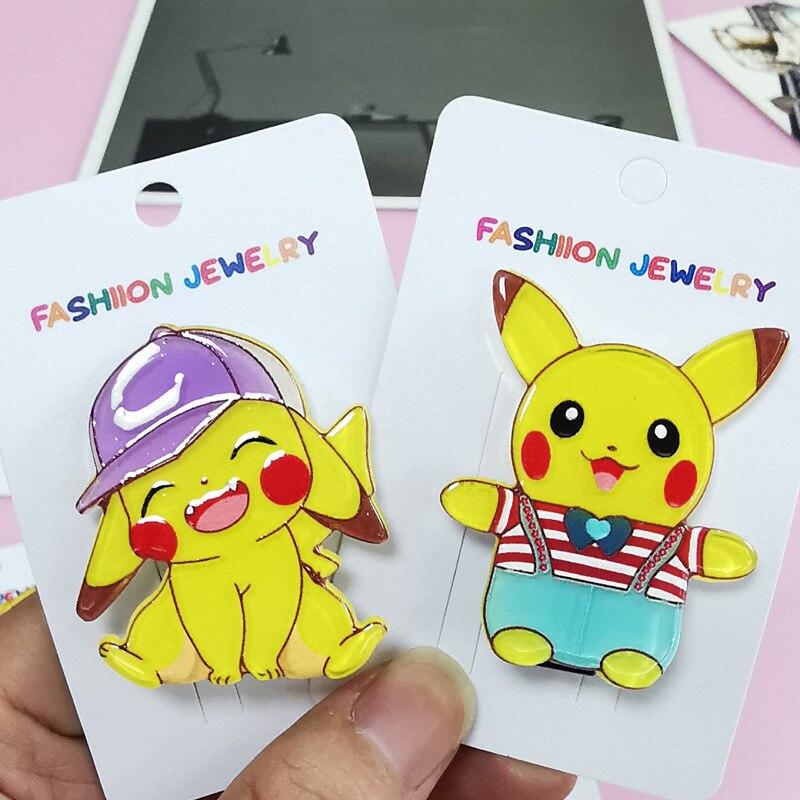 jóias pikachu diamante hairpin para menina cor