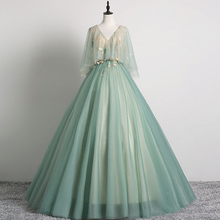 Темно-мятный зеленый винтажный плащ вуаль Воротник бальное платье длинное винтажное средневековое платье Ренессанс Принцесса Виктория Платье