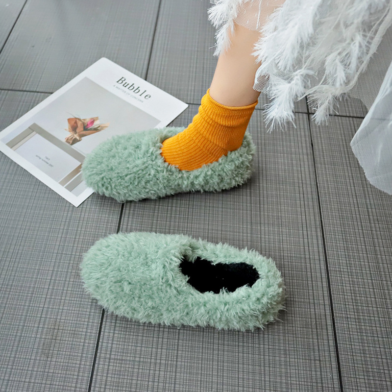 2019 Autumn New Style Korean-style Furry Foot Covering Shoes Women's Versatile Students Flat Lazy Slip-on Casual Shoes