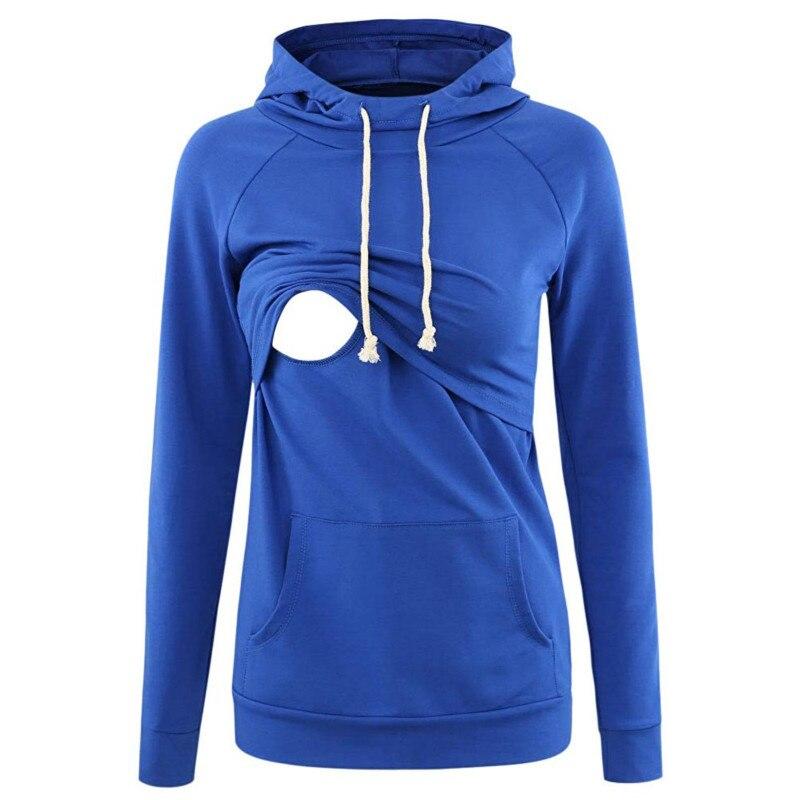 Hoodie Women's Nursing Maternity Long Sleeves Tops Breastfeeding Sweatshirts Long Sleeve Nursing Hoodies Maternity Top Clothes