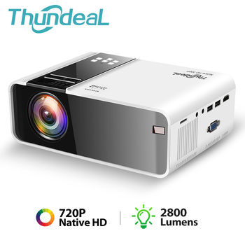 ThundeaL TD90 Native 720P Projector Android WiFi Bluetooth Projector 3D Video Movie Party Mini Proyector Portable Home Theater vivicine smart pico projector p09 android 6 0 bluetooth built in 4000mah battery smart miracast airplay mobile proyector beamer