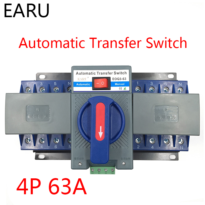 Business & Industrial 4P 63A 380V MCB type Dual Power Automatic ...