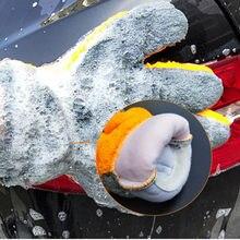 Araba temizleme yıkama araçları mikrofiber bulaşık eldivenleri oto bakım su emme araba araba-styling yumuşak peluş araba aksesuarları toz temizleyici