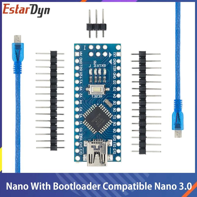 Nano bootloader ile uyumlu Nano 3.0 denetleyicisi için arduino CH340 USB sürücü 16Mhz Nano v3.0 ATMEGA328P/168P