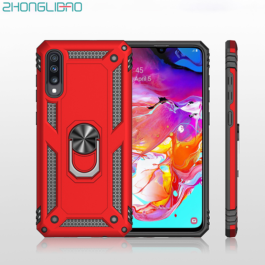 <font><b>Case</b></font> for <font><b>Samsung</b></font> A90 A80 A70 A60 <font><b>A50</b></font> A40 A30 20 A10 S A6 A7 A8 A9 PLUS 2018 M30 M20 Metal Ring Silicone Anti-fall <font><b>Armor</b></font> Cover image