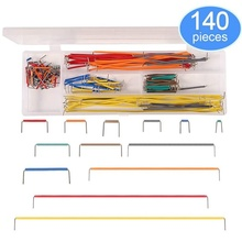 140 Pieces Preformed Breadboard Jumper Wire Kit 14 Lengths Assorted for Breadboard Prototyping Solder Circuits
