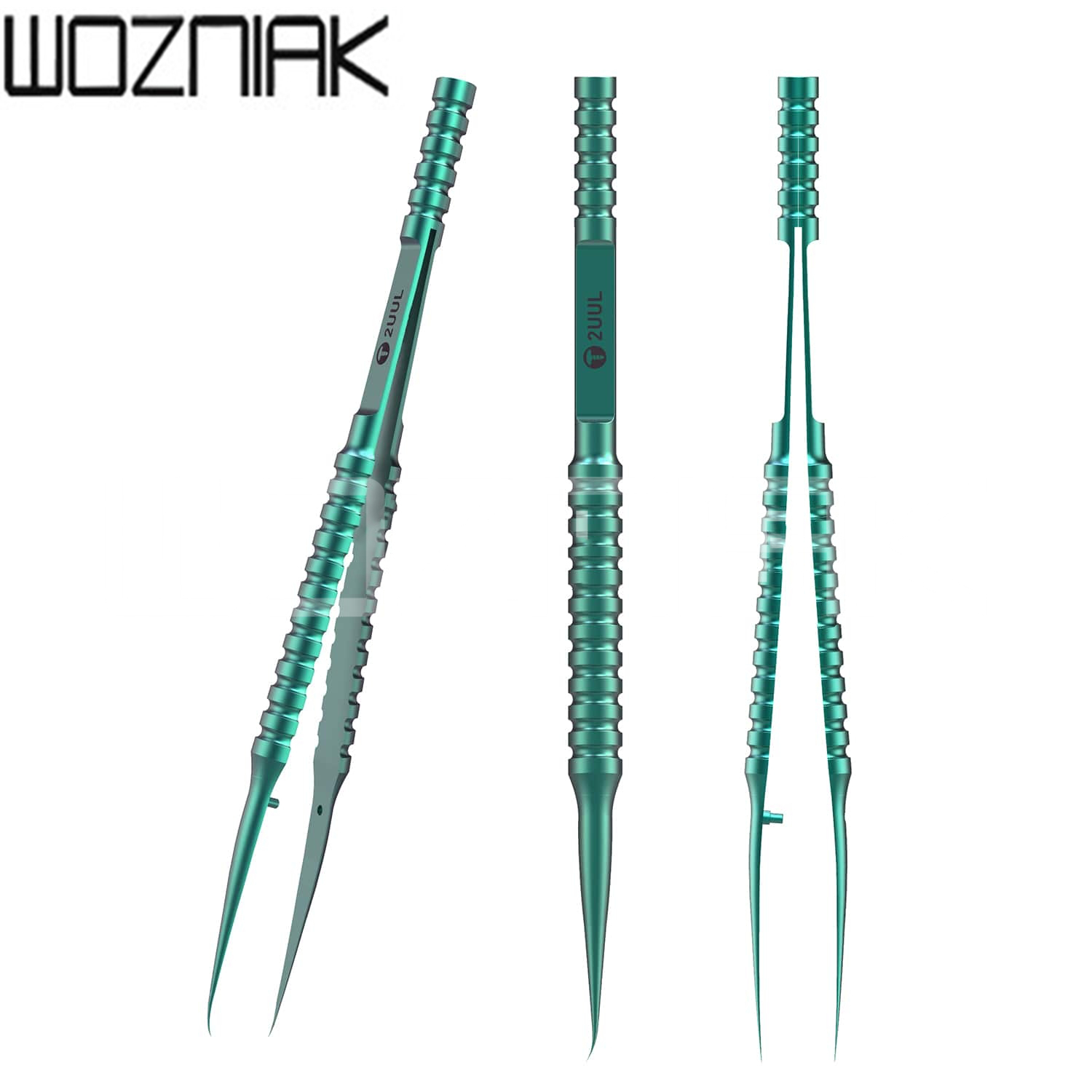 2UUL Titanium Alloy Tweezer Blue Curned Straight Tip Tweezer  For Mobile Phone Motherboard Repair Precise Wire Jump
