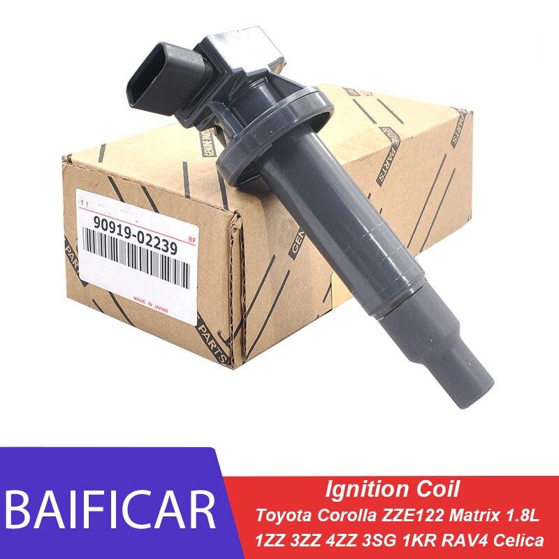 Baificar абсолютно новый настоящая катушка зажигания 9091902239 для Toyota RAV4 Celica Corolla ZZE122 1ZZ 3ZZ 4ZZ 3SG 1KR Matrix 1.8L