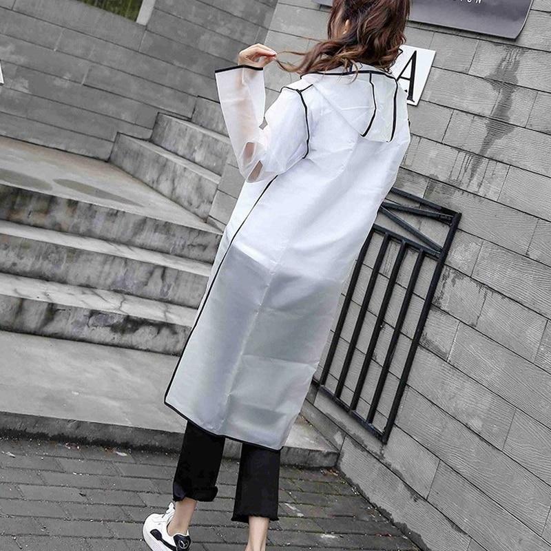 Fashion Transparent Raincoat Women Men Rain Poncho Rain Cape Unisex Plastic Eva Waterproof Parent-Child  Adult Long  Rainwear