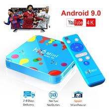 Android tv box H96 MINI Allwinner H6 Quad Core Smart TV Box 9.0 128GB ROM 6K HD 4K 30fps H.265 Set top