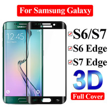 Gehard glas op de voor samsung galaxy s7 screen protector samsyng s6 rand screenprotector s 7 6 armor film 6s 7 s sheet tremp(China)