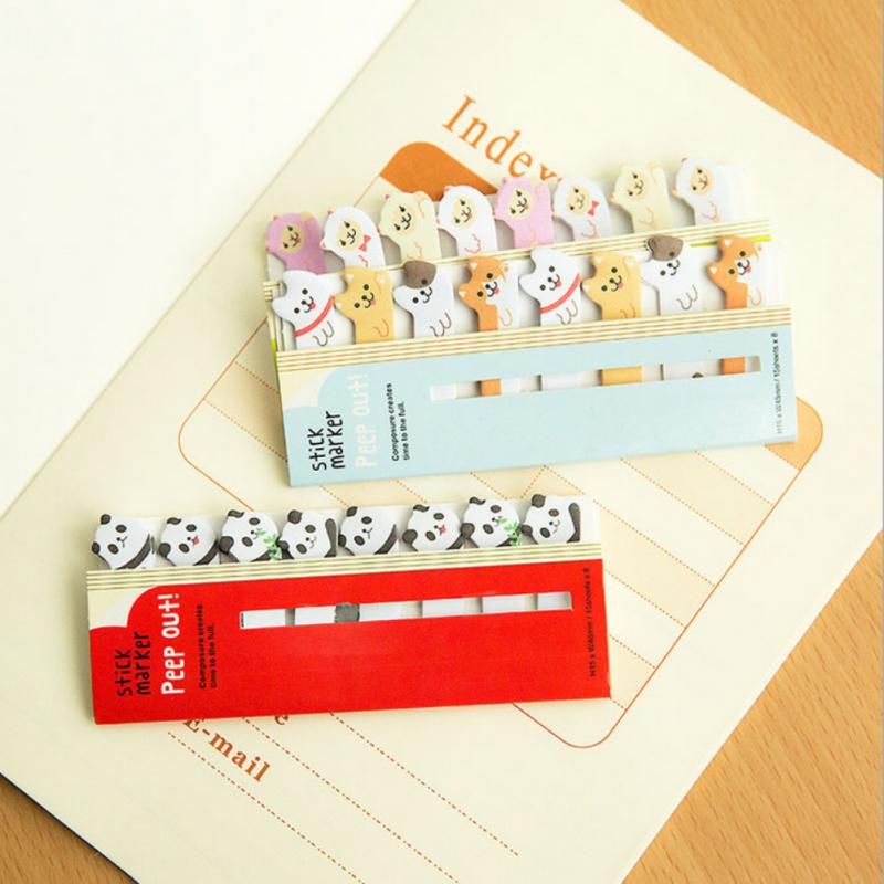 1 Set Cute Panda Cat Animals Page Marker Mini Sticker Notes  2