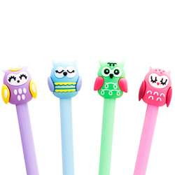 free shipping 30pcs/lot 0.5mm Kawaii And Cute Owl Novelty Stationery For Kids Girls Gift Cartoon Neutral Pen