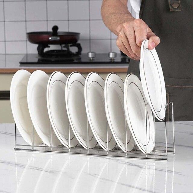 Kitchen Organizer Stainless Steel Dish Bowl Rack Drying Shelf Utensil Cutlery Drainer Storage Holder 4