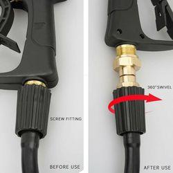 M22 14mm gwint myjka ciśnieniowa obrotowe złącze Kink bezpłatne złącze do węża montaż ogród zbiornik wody złącze kranu akcesoria w Węże i szpule ogrodowe od Dom i ogród na