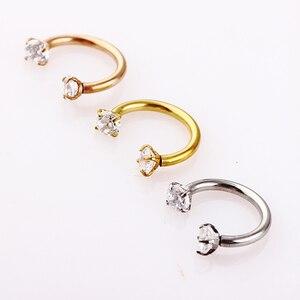 1 шт. модное кольцо для носа с кристаллом, зажим для перегородки губ, не пирсинг, кольца для носа, кольца для женщин и мужчин, ювелирные издели...