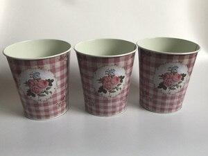 Image 1 - 10 ピース/ロットD12.5xH14cm小さな花瓶ポット金属植木鉢家の装飾の結婚式ポットの写真撮影の小道具