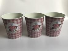 10Pcs/lot D12.5xH14cm Small Vase Pots Metal Flower pot Home decoration Wedding Pots Photography props