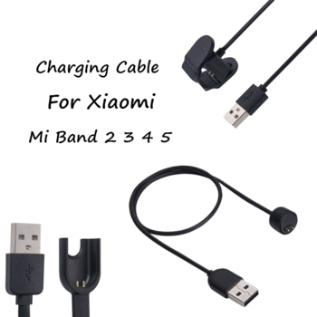 Charger Wire For Xiaomi Mi Band 5 4 3 2 Smart Wristband bracelet For Mi band 5 Charging cable Miband 4 3 USB Charger Cable 1