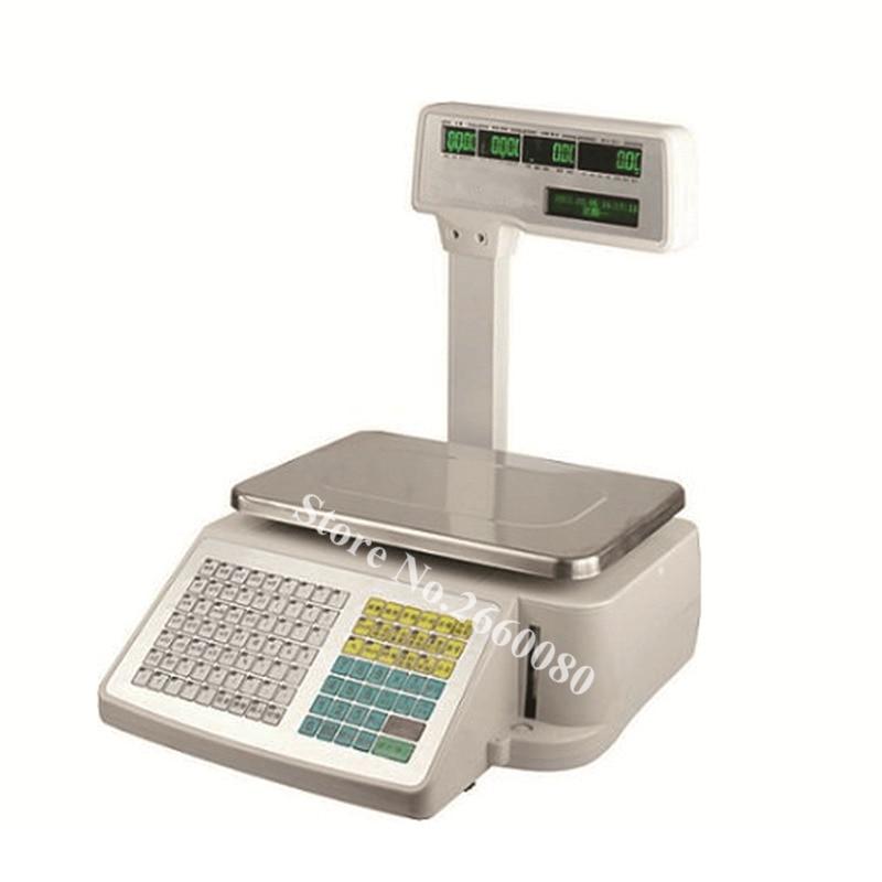 TM-A 2012 Retailer Balance Grocery Label Printing Scale 5 Windows PLU Name Digital Price Computing Balance With Barcode Printer