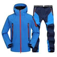 Зимние мужские водонепроницаемые походные костюмы флисовые куртки