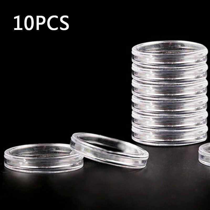 Display Scatola di Immagazzinaggio contenitore di Moneta di Protezione Trasparente Organizer Sereno 40 millimetri Rotonda Capsula