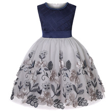 Flower Girls Dress Summer Embroidery Elegent Princess Dress Kids Dresses For Girls Wedding Party Ball Gown Children Clothing New 2019 lace embroidery dress kids dresses for girl princess autumn winter party ball gown children clothing wear dress for girls